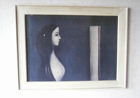 """Obraz reprodukce """"Žena před zrcadlem"""","""