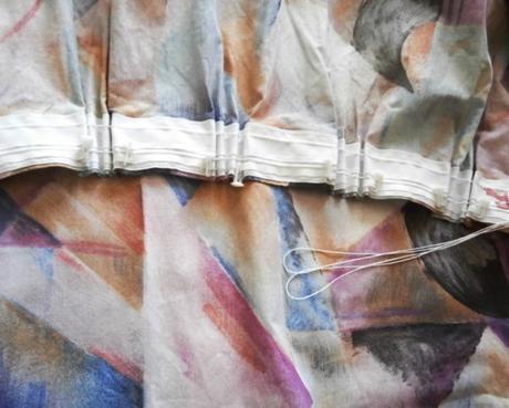 Závěs bavlněný vícebarevný,