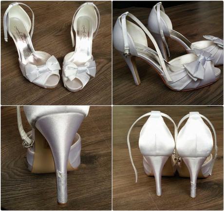 Saténové svatební boty Landy bridal, 40