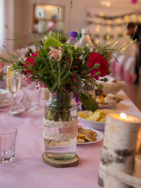 Vazy a svietniky na vintage svadbu,