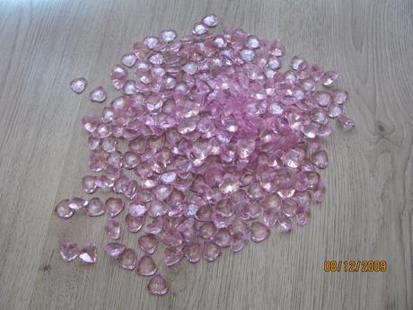 kamínky na stůl srdíčka ,