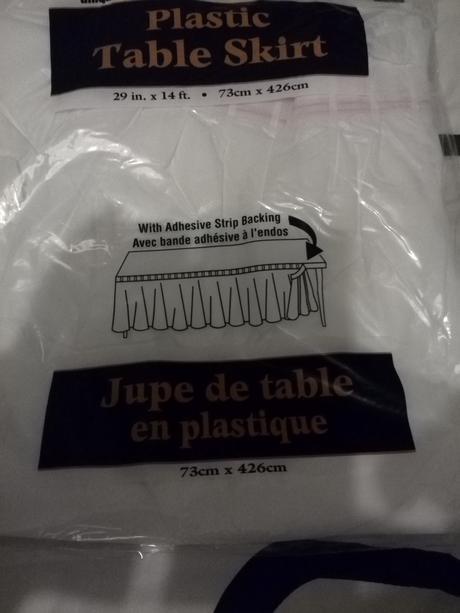 plastová rautová sukně celkem 21m,