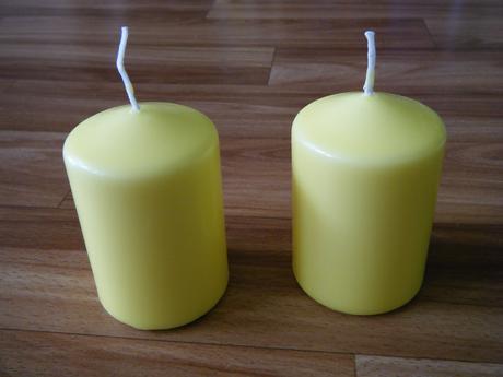 """svíčky vhodné ke """"žluté"""" svatbě,"""