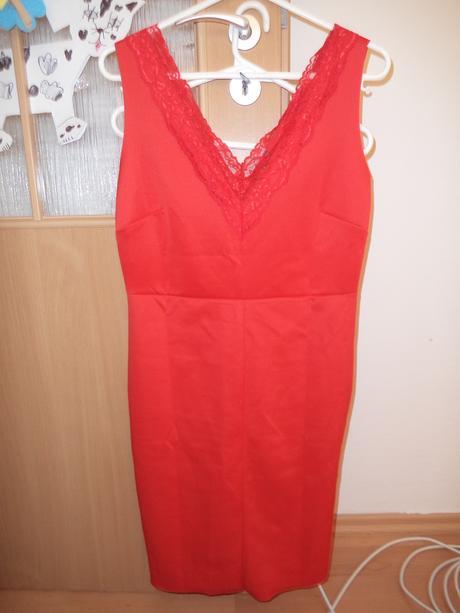 Šaty, červené barvy, velikost 40, 40