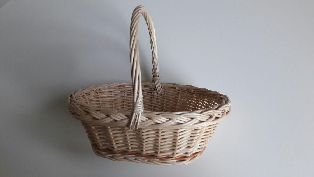 Světlý proutěný košík s uchem (celkem 3 ks) 4740b3aa795