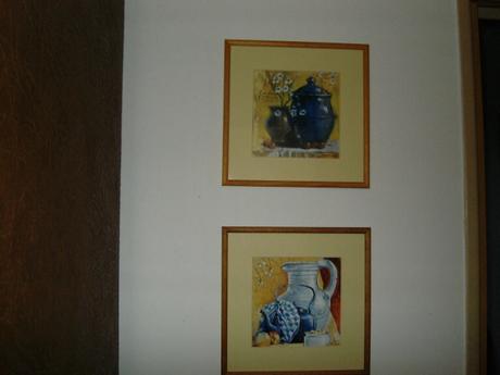 dva ks velke zasklene obrazy/reprod.,