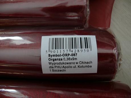 Organza vínovo červená,