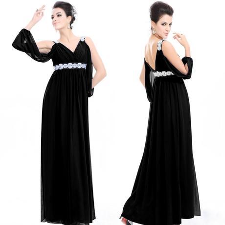 antické dlouhé černé společenské šaty Atika S, 36