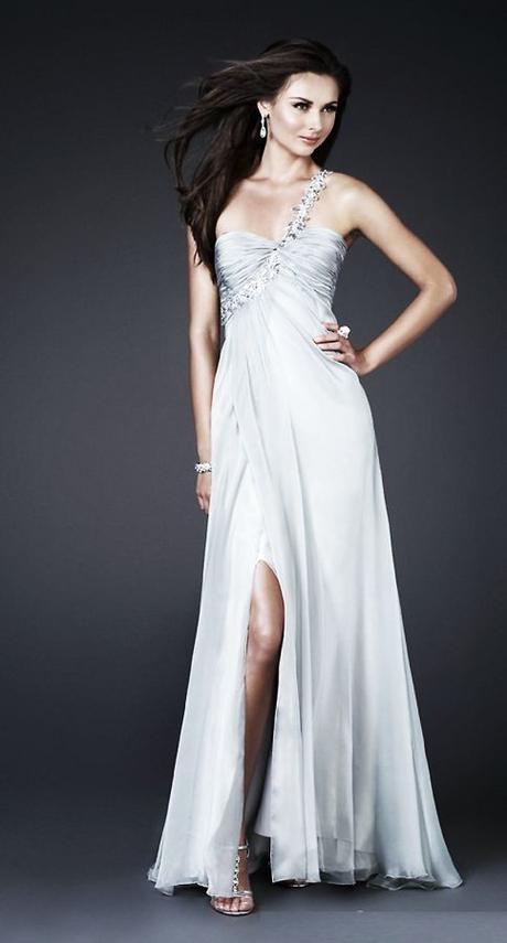 bílé svatební společenské šaty na jedno rameno , 38