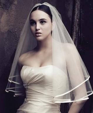 bílý svatební závoj bez hřebínku 1,5 m ZA4,