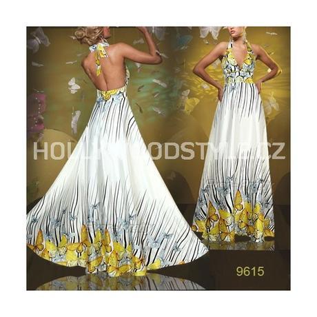 dlouhé luxusní společenské šaty vzorované S , 36