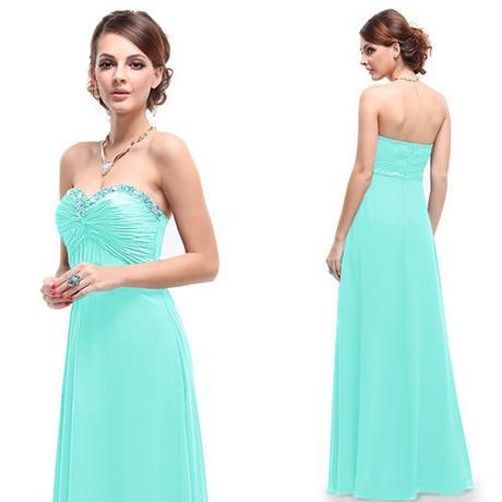 dlouhé světle modré tyrkysové společenské šaty Ara, 36