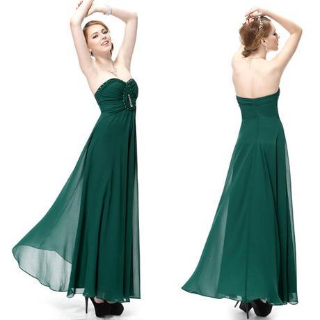 dlouhé zelené společenské šaty Carol M, 38