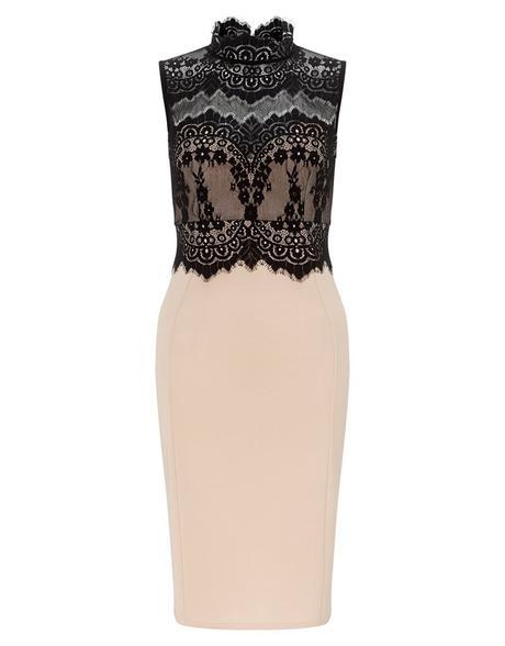 krátké krémové společenské šaty do kanceláře S-M, 36