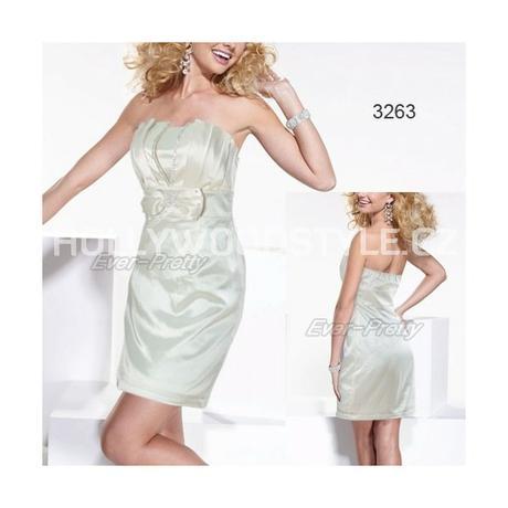 krátké krémové společenské šaty M , 38