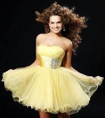 krátké společenské žluté šaty koktejlky Victoria S, 38