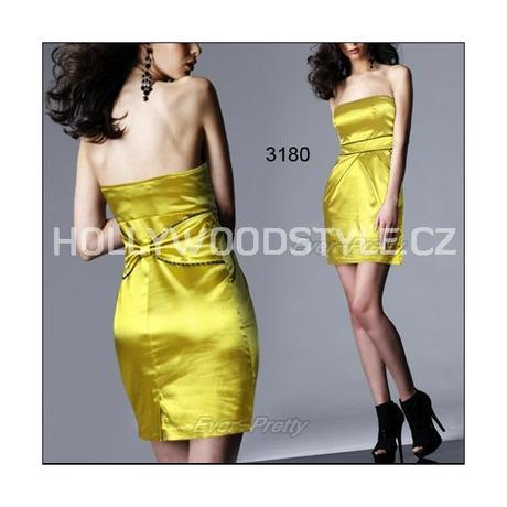 krátké žluté společenské šaty XL , 42