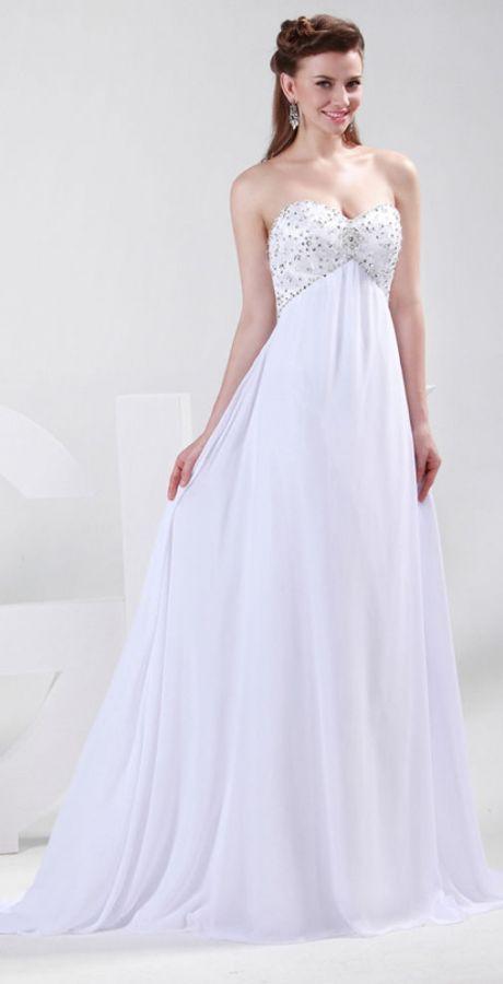 luxusní bílé antické svatební šaty S-M, 38