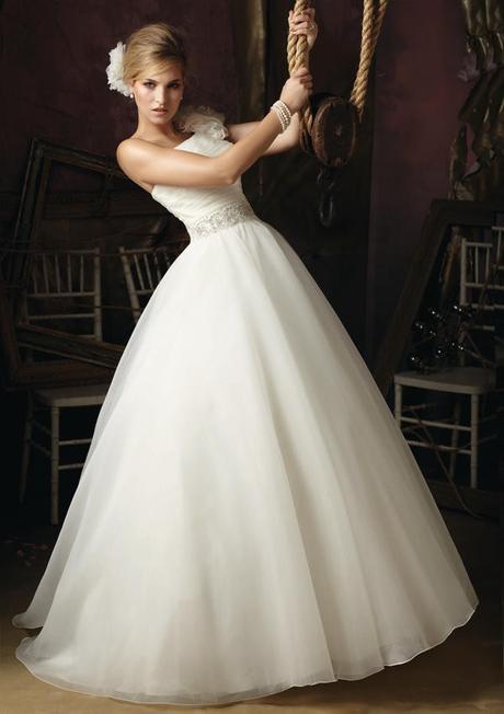 luxusní bílé svatební šaty Rossella S-M, 36
