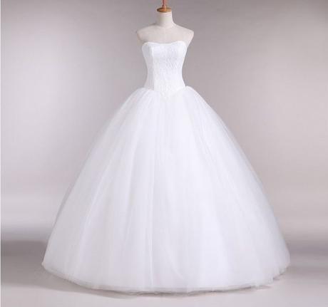 luxusní bílé tylové svatební šaty Veronica S-M, 36