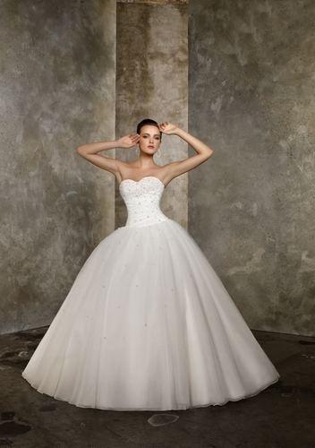 luxusní ivory svatební šaty Bella L-XL, 42
