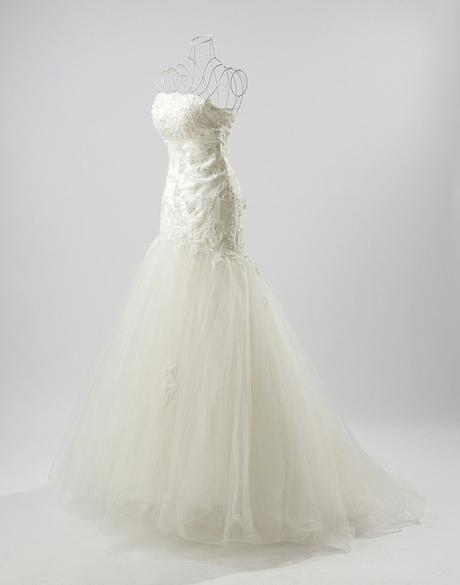 luxusní smetanové krajkové svatební šaty Keren S-M, 36