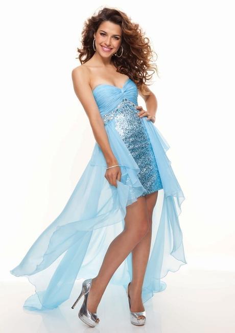luxusní světle modré plesové společenské šaty Lea , 36
