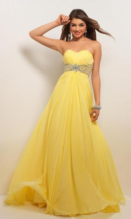luxusní žluté plesové společenské antické šaty Kel, 38