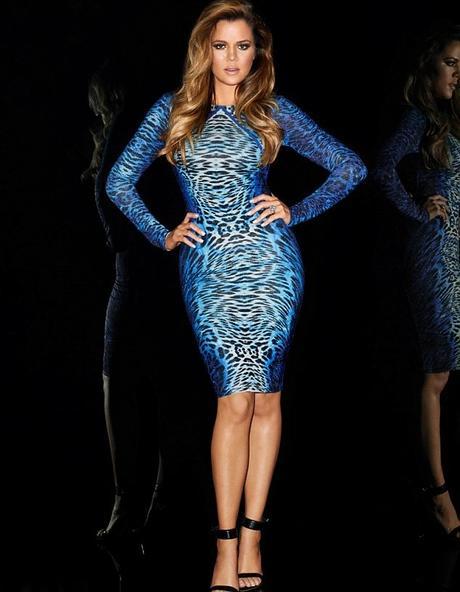 modré leopardí společenské bodycon šaty , 38