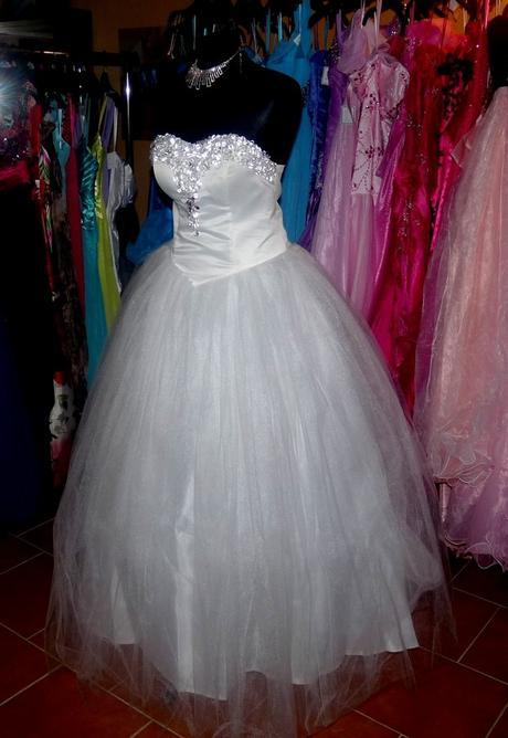 princeznovské bílé svatební šaty Merien M-XL, 40