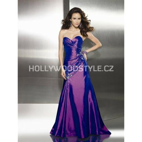 Sarah plesové společenské fialové šaty M-L, 38