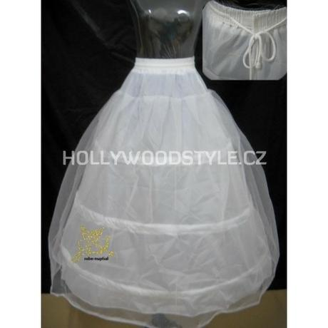 Spodnička spodnice bílá - 3 obruče, 2 vrstvy , 38