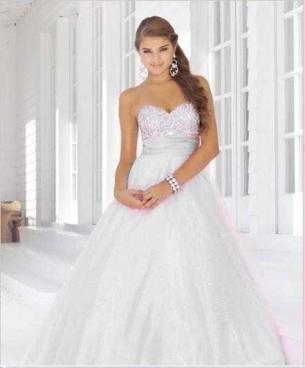 svatební nebo plesové společenské bílé šaty XL-XXL, 42