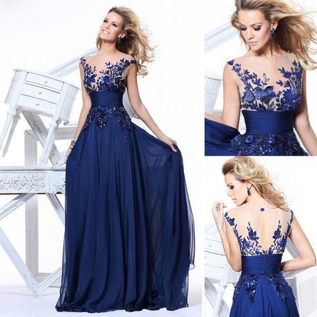 tmavě modré plesové společenské antické šaty , 36