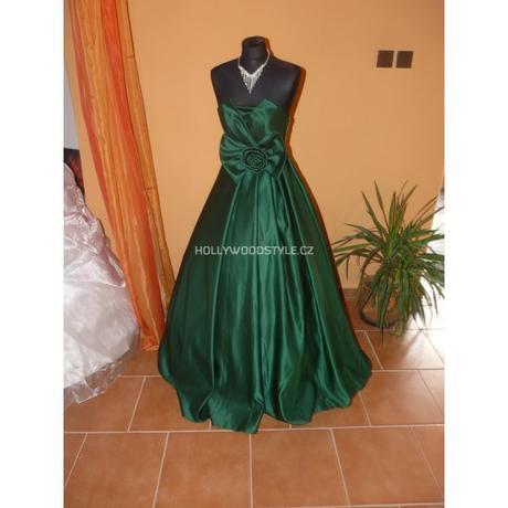 zelené plesové společenské šaty s mašlí S-M , 38