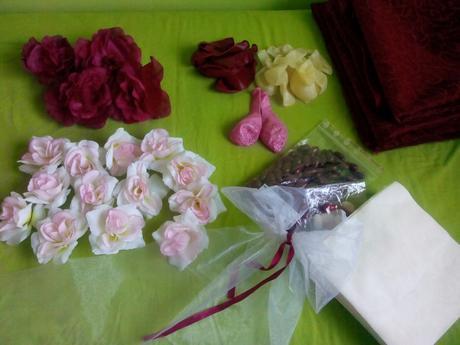 Květy růží,