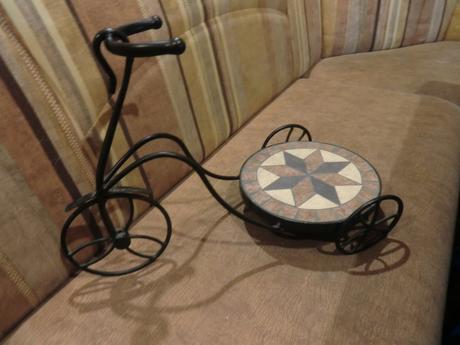 Stojan pod kvetináč v tvare bicykla -cena s poštou,