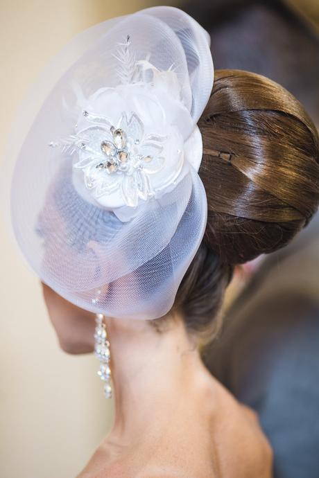 Svadobný fascinátor, klobúk,