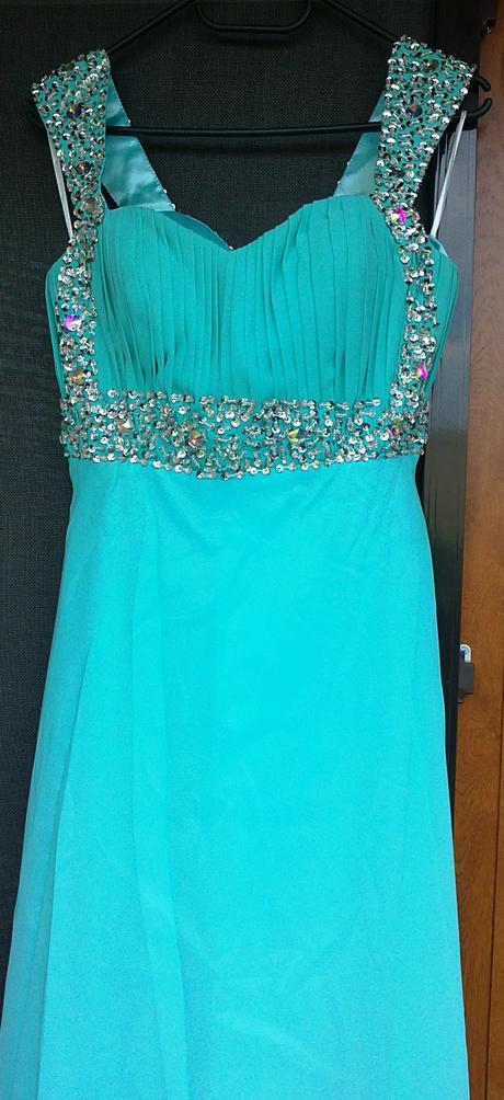 Dlhé elegantné šaty - azúrovej farby, 40