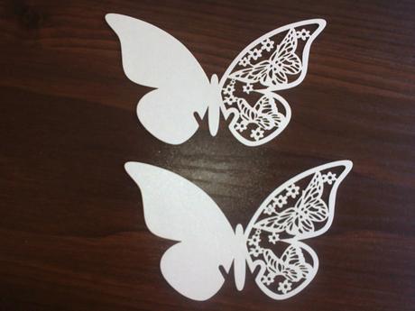 Motýle vo farbe ivory - veľké ,
