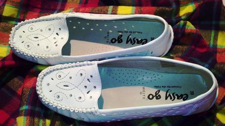 Pohodlné topánočky bielej farby, 39