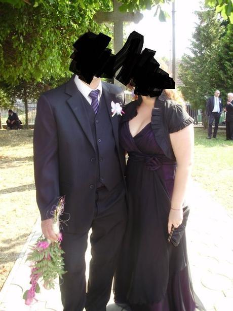 Šifónové spoločenské šaty - 42/44 XL, 44