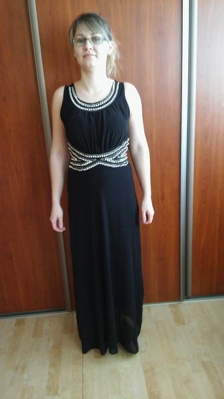 čierne šaty jeden krat oblečene, 38