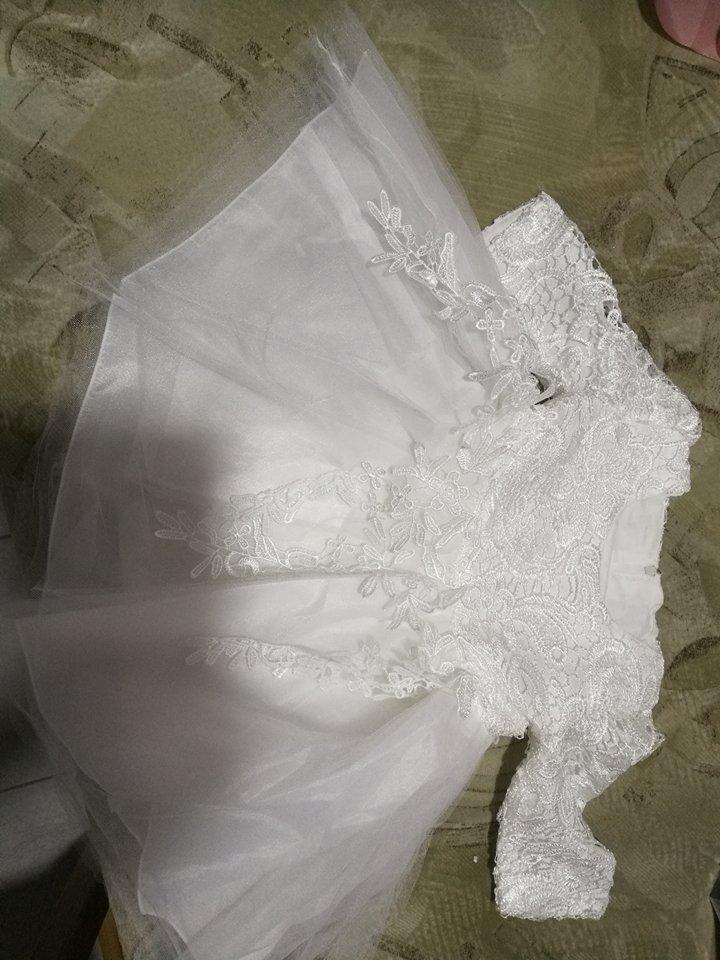 Šaty biele na svadbu alebo krst d80cf5a77cd