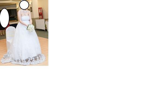 Svadobné korzetové šaty, 42