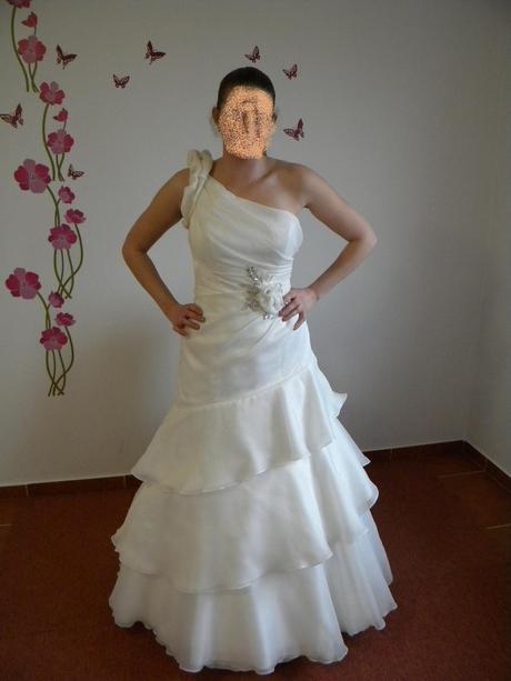 Svadobné šaty šampaň, 40