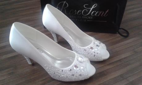 Svatební obuv s kamínky, 40
