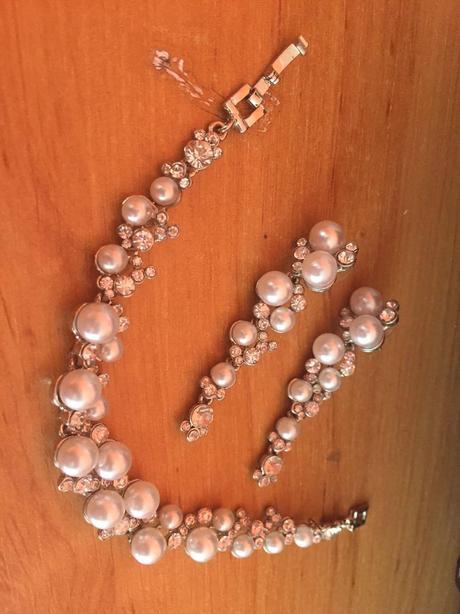 Svadobný set šperkov s perličkami,
