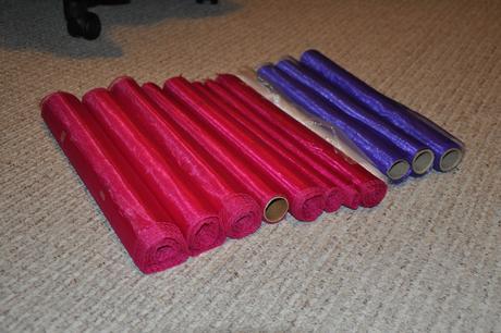 Organzy různých délek - použité nebo zbytky,