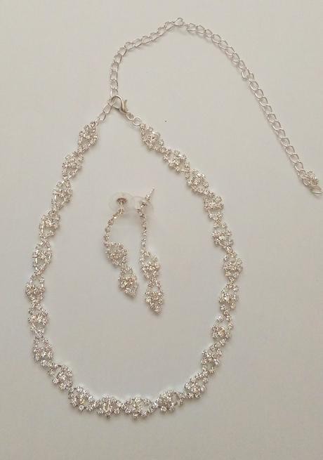 Svatební set - náhrdelník s náušnicemi,
